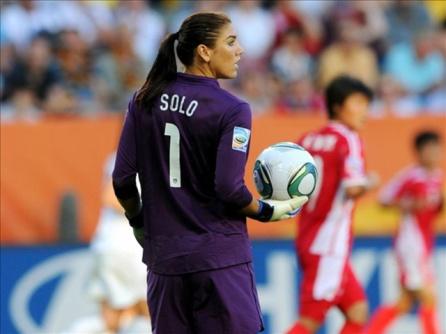 Hope Solo, Goalkeeper - U.S. Women's Soccer Team, World Cup 2011. Photo Credit: U.S. Soccer via MGN Online.